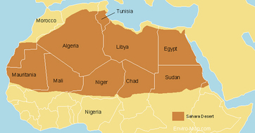 THE SAHARA DESERT ABOUT THE SAHARA AND WORD DEFINITIONS - What is the largest desert in the world